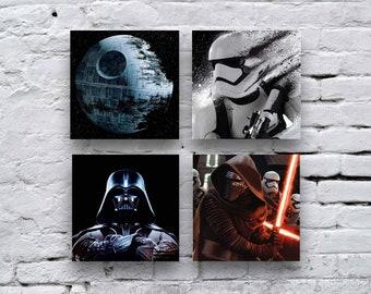Kylo Ren Photo , Star Wars Art Decor, Star Wars Photo tile, First Order, Photo Tile,Star Wars Kid's Room Designs, Darth vader photo, Tiles