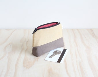 Coin purse Beige, Brown and Red