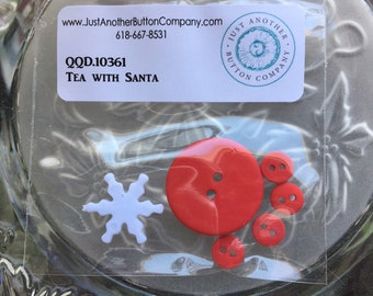 Tea with Frosty Button Pack from Just Another Button Co. QDD.10360