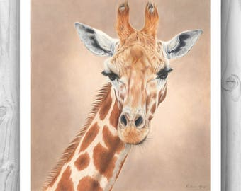 "Giclee Limited Edition Print - ""Serenity"" giraffe"