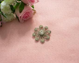 1950s Vintage Kramer Diamond Brooch