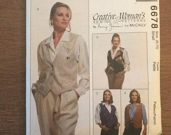 McCall's 6678 Pattern  Embellished Vest by Nancy Zieman UNCUT size small