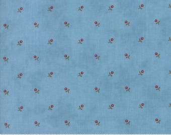 Ann's Arbor Light Blue Bud 14845 25 by Minick & Simpson for Moda