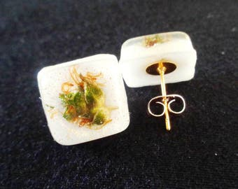 Healing Flower Stud Earrings-Weed Earrings-Cannabis Earrings-Weed Jewelry-Gold Weed Earrings-420-Weed Stud Earrings-Gifts for Stoners