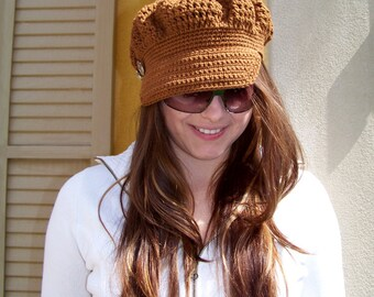 Crochet Newsboy Hat Pattern, Crochet Pattern, Newsboy Cap Pattern, Crochet Hat Pattern, Newsboy Cap Easy Crochet Pattern Crochet Cap Pattern