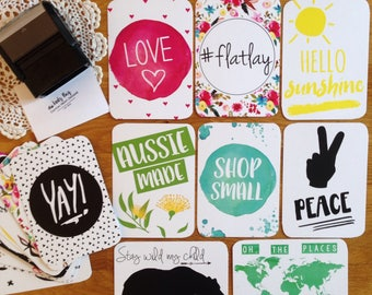 Flatlay | Cards | Baby Photo Prop | Photo Prop | Memories | Gift | 25 Card Set | Various Designs