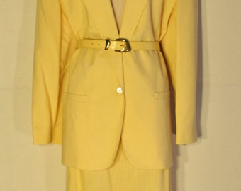 Womens Vintage Yellow Suit