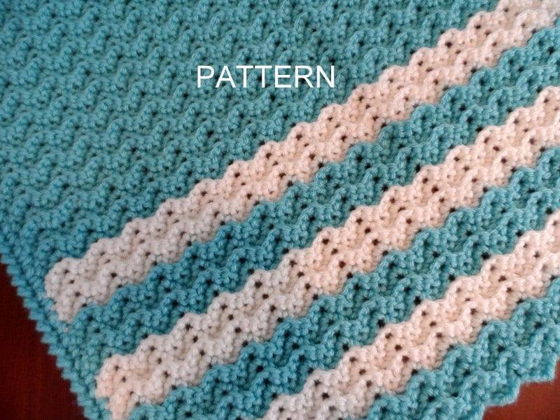 Baby Blanket Crochet Pattern Petite Ripple Afghan Crib Blanket