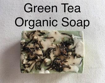 Organic Soap: GREEN TEA — Handmade Soap Bar / Oatmeal Soap / Organic Green Tea Soap / Natural Soap / Artisanal Soap Gift / Decorative Soap