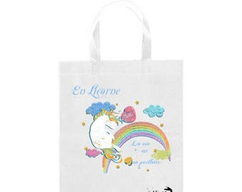 tote bag unicorn, unicorn life is in sequins, original gift idea