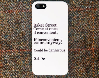Sherlock Holmes iPhone/iPod/Galaxy/LG Case, Lettering Case
