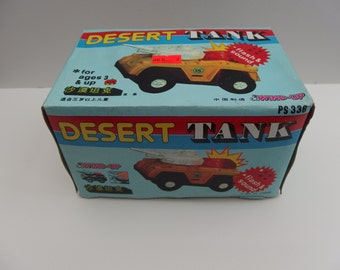 DESERT TANK - Wind Up Toy - PS336