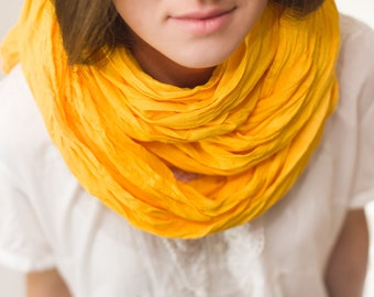 mustard linen scarf  spring colour washed linen scarf long linen scarf birthday gift