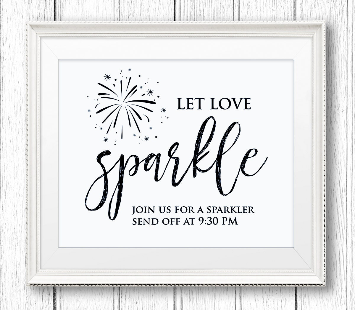 Free Wedding Sign Templates: Sparkler Send Off Sign Let Love Sparkle DIY Wedding Sign