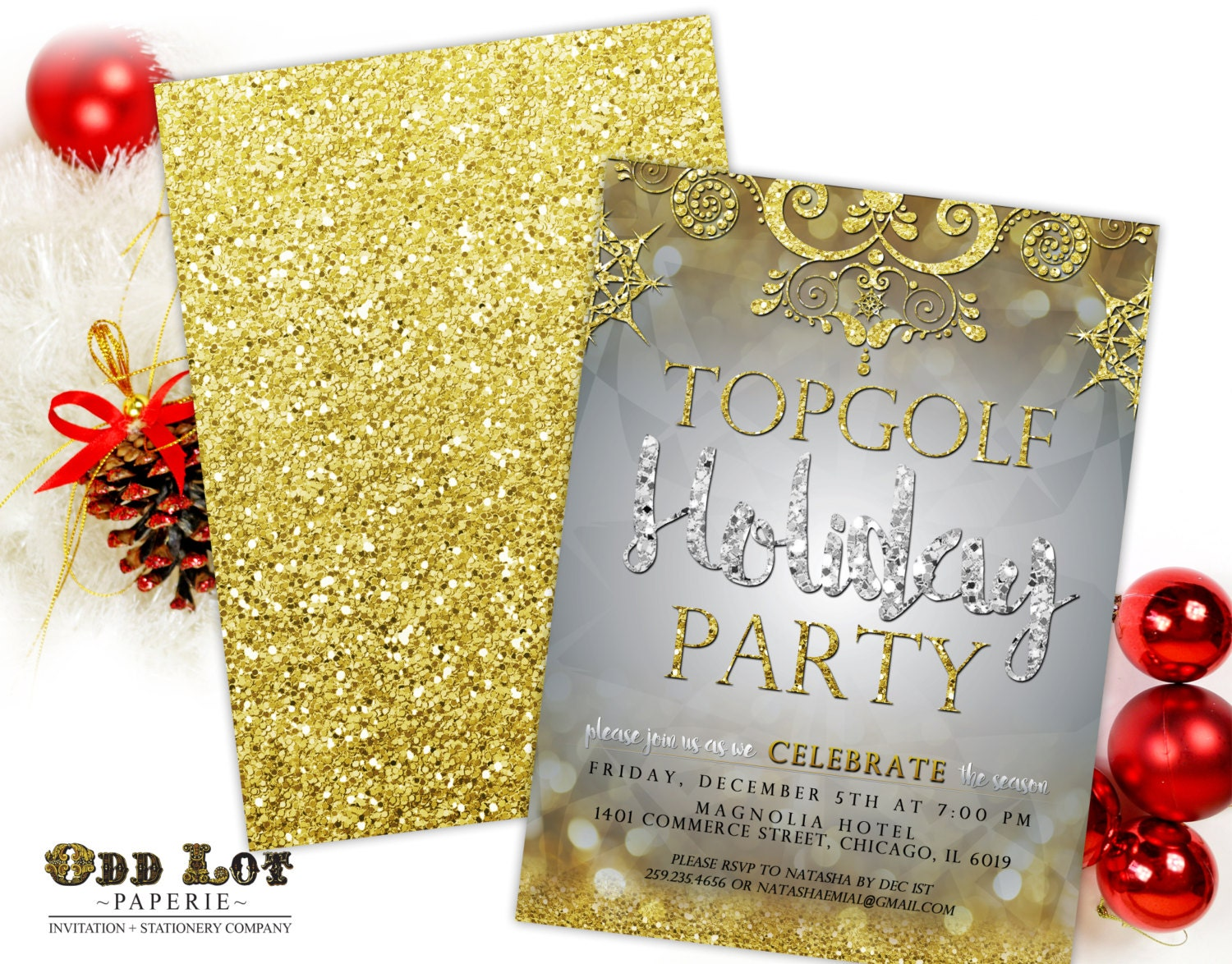Printable Christmas Party Invitation Holiday Party