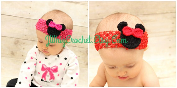 Crochet Minnie Mouse Head Applique Pattern Mickey Mouse Head