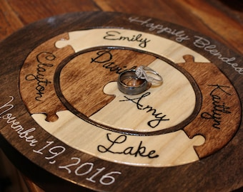 Custom Designed Unity Puzzle® Unique Christmas Gift For Mom Unity Ceremony  Alternative Custom Personalized Family Puzzle Wooden Tray Puzzle