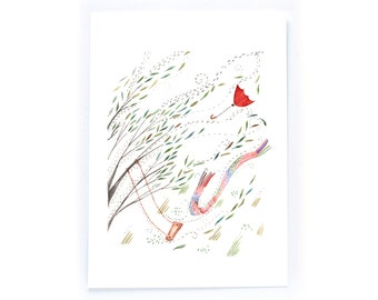 Windy Day - archival art print
