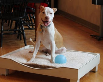 small dog bed, cat bed, pet bed, wood dog bed