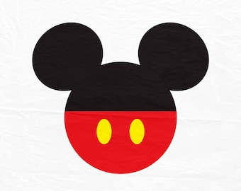 Mickey Mouse SVG, Mickey Mouse Ears SVG, Mickey mouse with red bottom with buttons Disney SVG for cricut or silhouette.