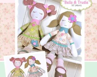 PDF - Bella & Trudie Rag Doll Pattern - Instant Download
