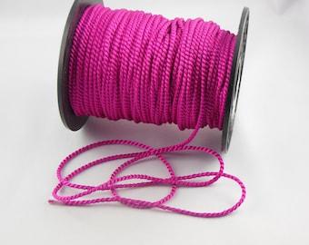 Soutache fuchsia twisted cord