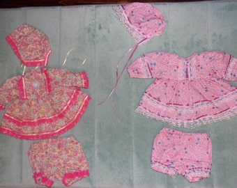 Doll Outfits (2) Sewn...Size Small