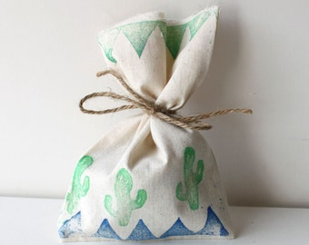 Boho TRIBAL Party Favour Bags - Boho Tribal pow wow CACTUS wild one x 10