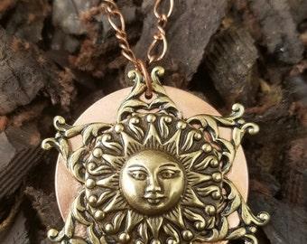 Sun Copper Necklace