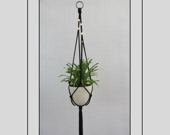 Macrame plant holder | Herb planter pot | Urban jungle | Retro boho bohemian | Kitchen décor | Wall décor | Home décor | Macrame