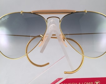 Vintage Ray Ban Bausch and Lomb Gold Outdoorsman Gray ultra Gradient Fantasees 58mm