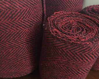 Child Winingas or Arm wraps - Viking - Norse - Anglo-Saxon Leg Wraps deep red burgundy