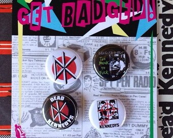 Dead Kennedys 1 inch badge set of four