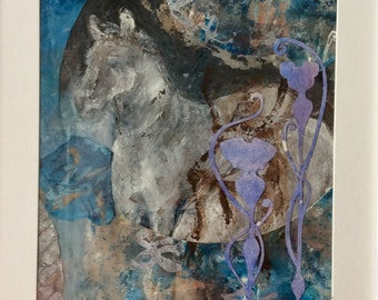 """Horse Collage 10x12"""""""