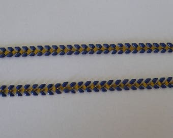 20 cm dark blue enameled ear gold chain