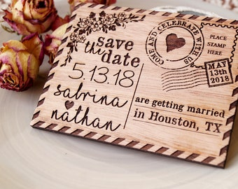 Wedding save the date magnets, save the dates, rustic save the dates, wooden save the date magnets, wedding announcement magnets, set of 10