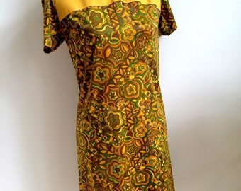 1960's Shift Dress (Size: Approx. UK 12 - 14)