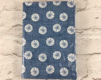 Blue floral Oilcloth A5 book cover