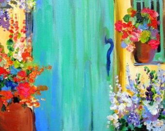 Original Painting Canvas art 18 x 24 Fine art by Elaine Cory