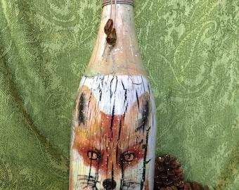 Winter bottle art.