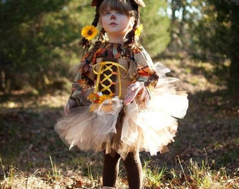 Scarecrow girl fall harvest princess costume
