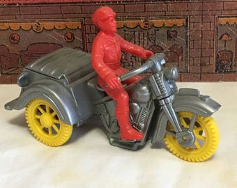 Plastic 3-Wheel Motorcycle Toy and Rider