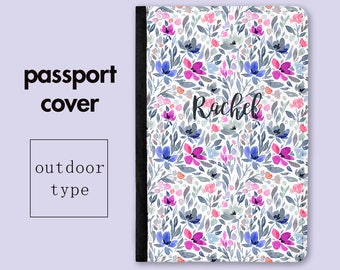 Personalized Passport Cover - Wild Meadow - Travel Gifts - Passport Holders - Mothers Day Gift - Gifts for Mom - Gift for Mum - PC016