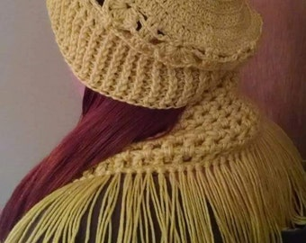 Infinity Scarf Set/Crocheted Hat/Crocheted Scarf