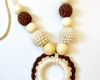 Teething Necklace / Teething Necklace for Mom / Nursing Necklace / Breastfeeding Necklace /
