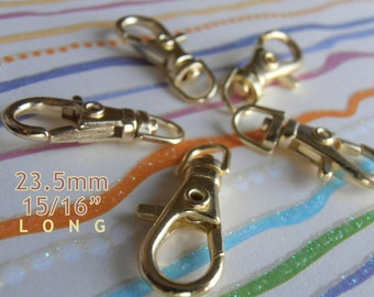23.5 mm / 1 Inch Swivel Clips in Gold Color, Antique Brass or Nickel Finish - Choose from 240, 600, and 1500 pieces