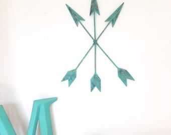 Metal Arrow Decor / Metal Arrows / Tribal Arrows / Tribal Decor / Nursery Decor / Rustic Arrows / Metal Wall Decor / Wedding Gifts