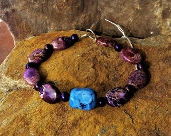 Purple Jasper Bracelet, Imperial Jasper Bracelet, Jasper Bracelet, Purple Bracelet, Gemstone Bracelet ,Purple Stone Bracelet