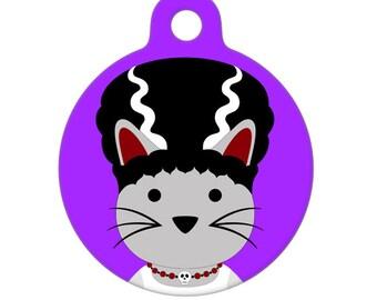 Pet ID Tag - Bride of FrankenKitty Pet Tag, Cat Tag, Luggage Tag, Child ID Tag