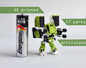 Neurobtoa: Hammer . 3D printed articulated mini robot construction figure like never before